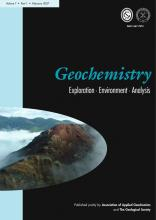 Geochemistry: Exploration, Environment, Analysis: 7 (1)