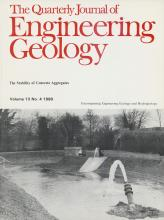 Quarterly Journal of Engineering Geology and Hydrogeology: 13 (4)