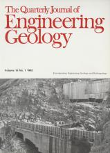 Quarterly Journal of Engineering Geology and Hydrogeology: 15 (1)