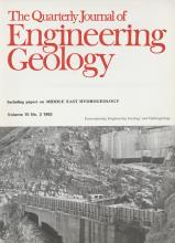 Quarterly Journal of Engineering Geology and Hydrogeology: 15 (2)