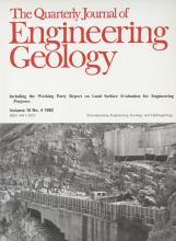 Quarterly Journal of Engineering Geology and Hydrogeology: 15 (4)