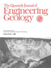 Quarterly Journal of Engineering Geology and Hydrogeology: 22 (1)
