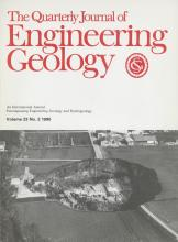 Quarterly Journal of Engineering Geology and Hydrogeology: 23 (2)