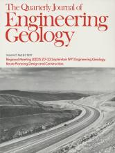 Quarterly Journal of Engineering Geology and Hydrogeology: 5 (1-2)